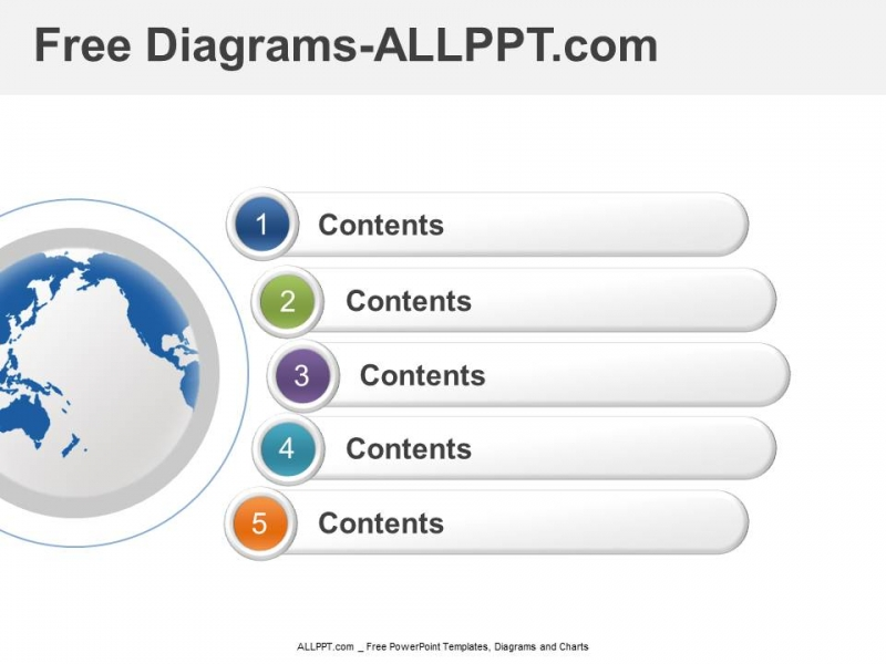 5 step stage diagram and free ppt template and chart toneelgroepblik Gallery
