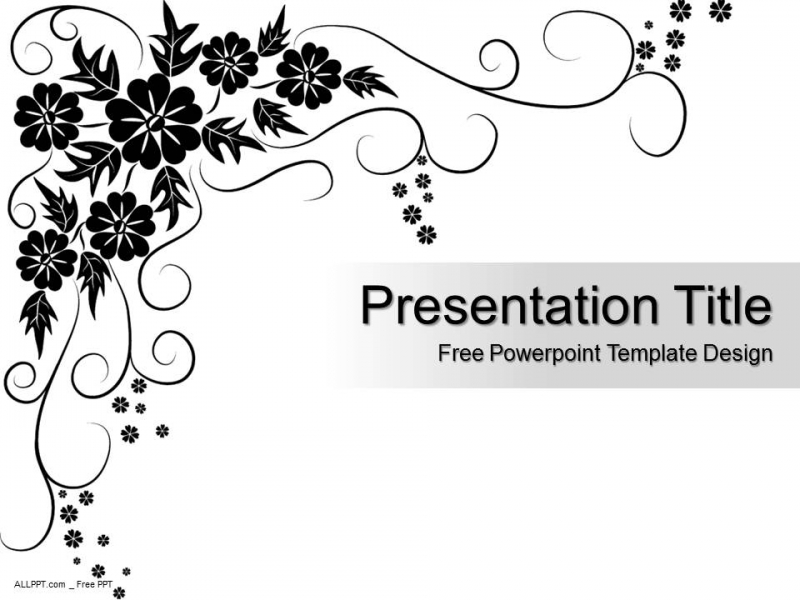 black floral pattern powerpoint template design daily update
