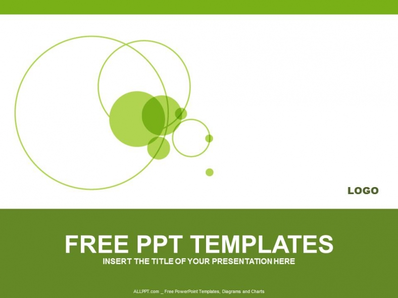 green circle powerpoint templates design