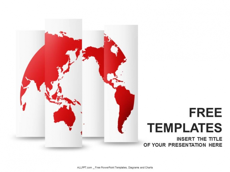 Red World Map Powerpoint Templates Design Download Free Daily