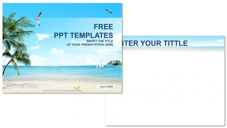 Beach nature powerpoint templates download free beach nature powerpoint templates 3 toneelgroepblik Image collections