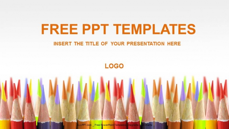 colored pencils education powerpoint templates download free
