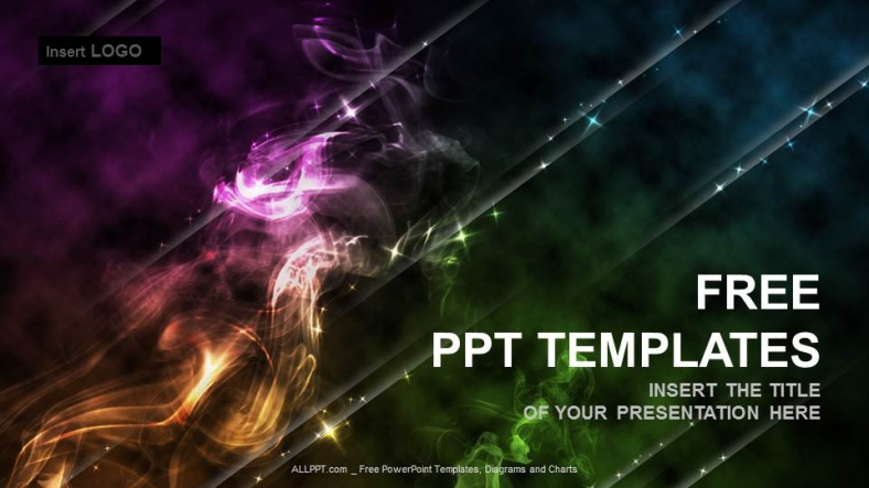 Free abstract powerpoint templates design colored smoke abstract powerpoint templates toneelgroepblik Choice Image