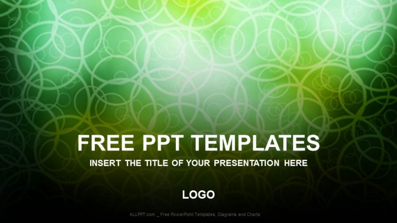 Free Black Abstract Green Powerpoint Templates Download