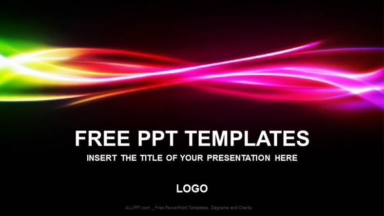 Free colorful powerpoint templates design free rainbow abstract powerpoint templates toneelgroepblik Choice Image