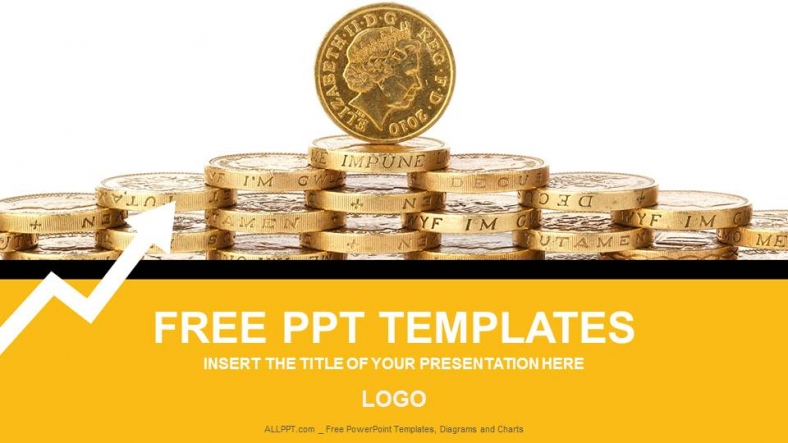 Gold Coins Finance PowerPoint Templates + Download Free + Daily ...