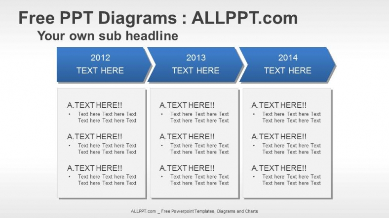 Text Box Flow PPT Diagrams + Download Free + Daily Updates +