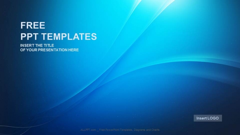 blue wave abstract powerpoint templates + download free +, Blue Presentation Template, Presentation templates
