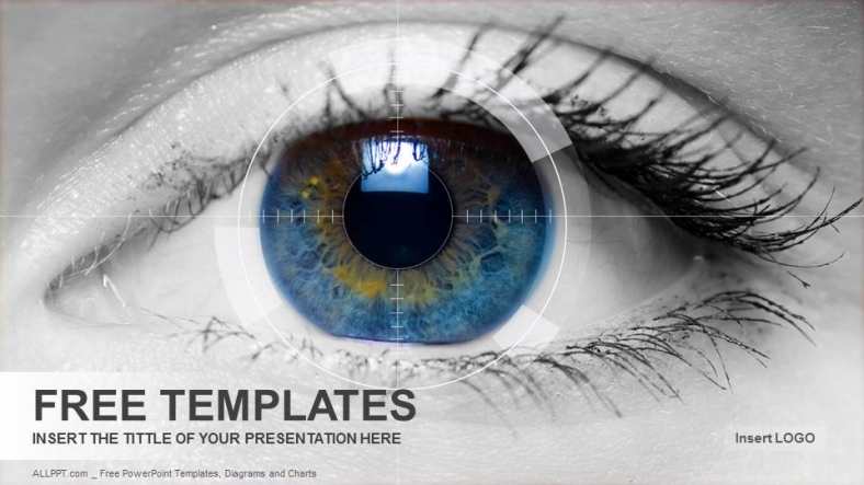 colored eye medical powerpoint templates download free