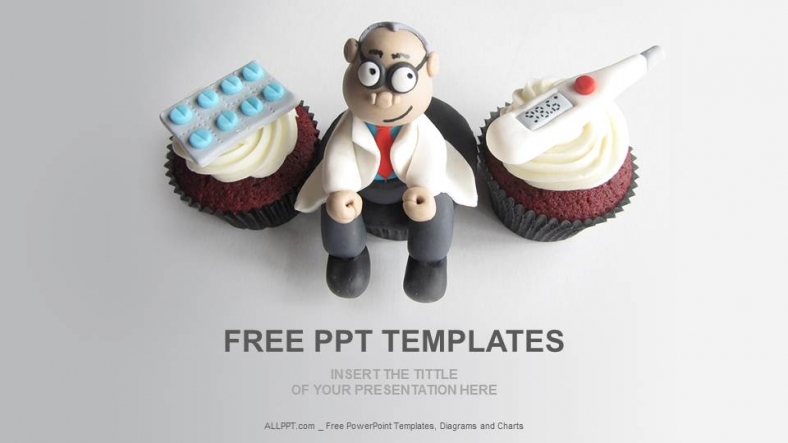 Doctor Themed Cupcakes Medical PPT + Download Free +