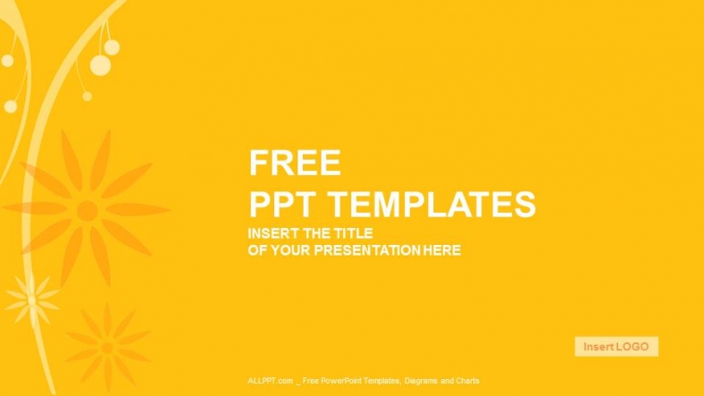 Free cool powerpoint templates design orange floral abstract powerpoint templates toneelgroepblik