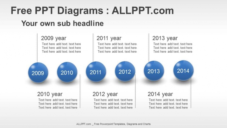 Spheres Timeline Ppt Diagrams Download Free
