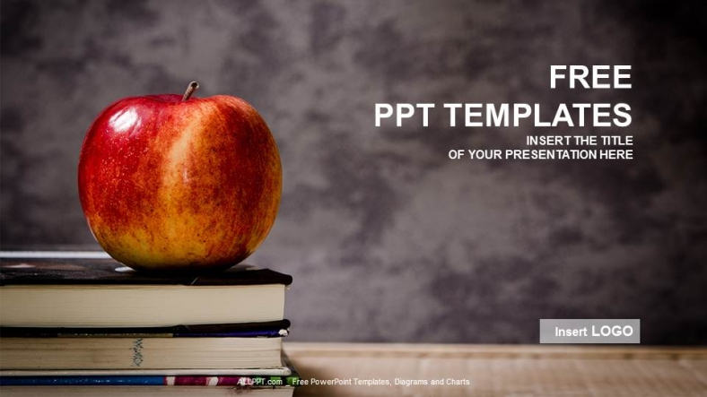 apple and book education ppt templates
