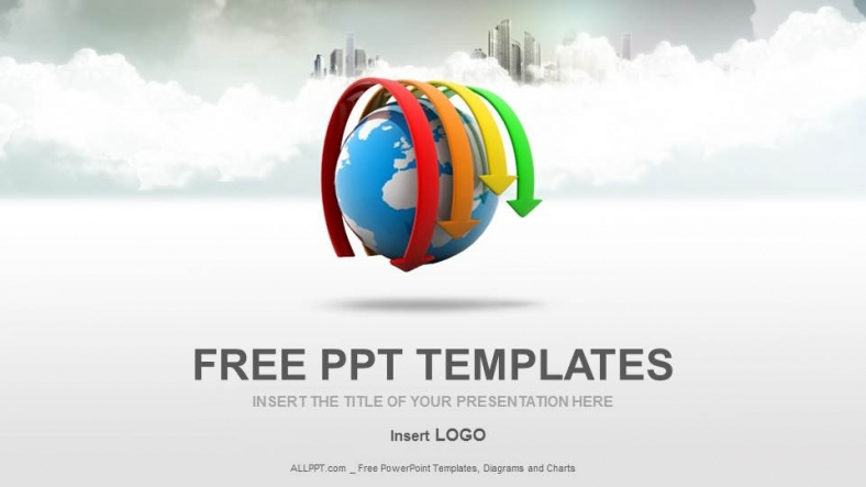 Globe And Arrows Business Ppt Templates