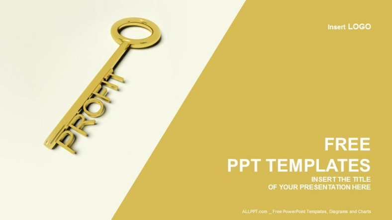 profit key finance ppt templates
