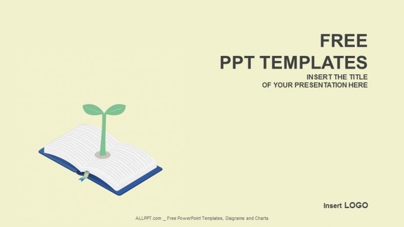 Book powerpoint template free download