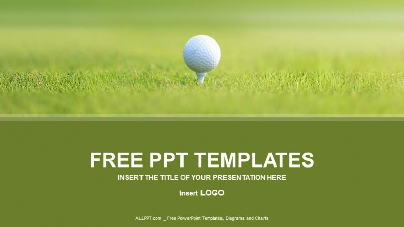 golf ball sports powerpoint templates. Black Bedroom Furniture Sets. Home Design Ideas