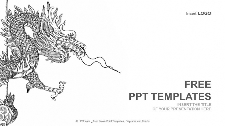 chinese style dragonrecreation powerpoint templates