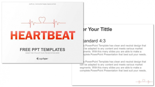 Charting A HeartbeatMedical PPT Templates - Best of powerpoint medical template design