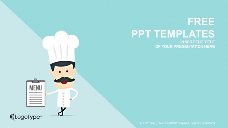 cartoon chef food powerpoint templates. Black Bedroom Furniture Sets. Home Design Ideas