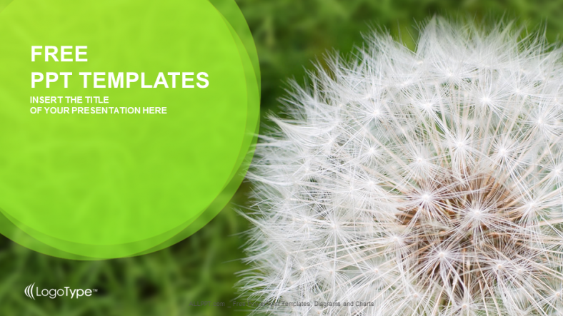 Dandelion on grass nature ppt templates dandelion on green grass nature ppt templates 1 ccuart Image collections