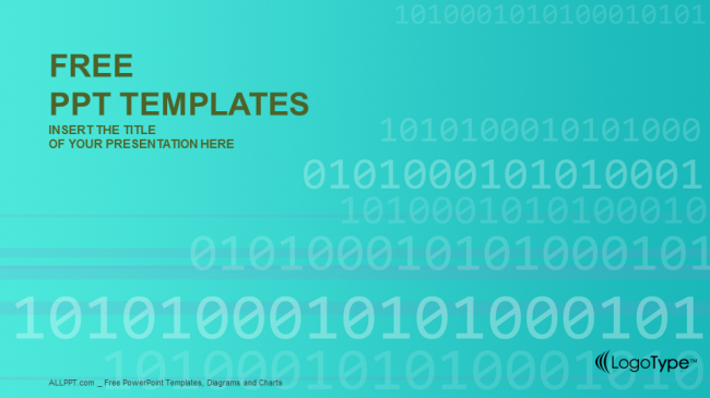 Free computers powerpoint template design binary code computer powerpoint templates toneelgroepblik Images