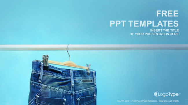 blue jeans trouser recreation ppt templates