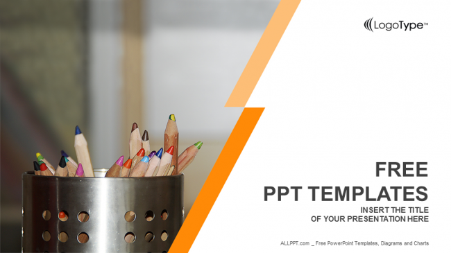 Coloured Pencils Education Ppt Templates
