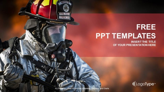 firefighter searching for survivors ppt templates