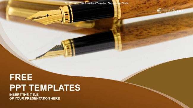 Fountain pens business powerpoint templates fountain pens business powerpoint templates 1 toneelgroepblik Image collections