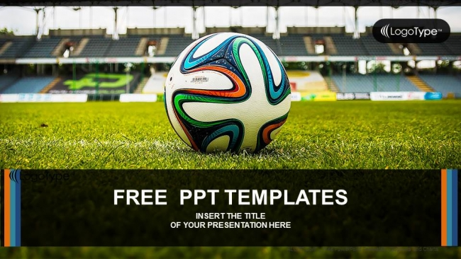 Soccer ball on green grass powerpoint templates toneelgroepblik Gallery