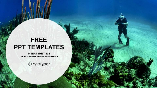 Young man scuba diver sports ppt templates young man scuba diver sports ppt templates 1 toneelgroepblik Image collections
