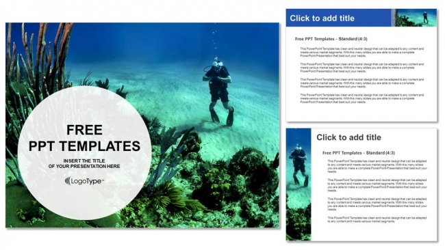 Young-Man-Scuba-Diver-Sports-PPT-Templates (4)
