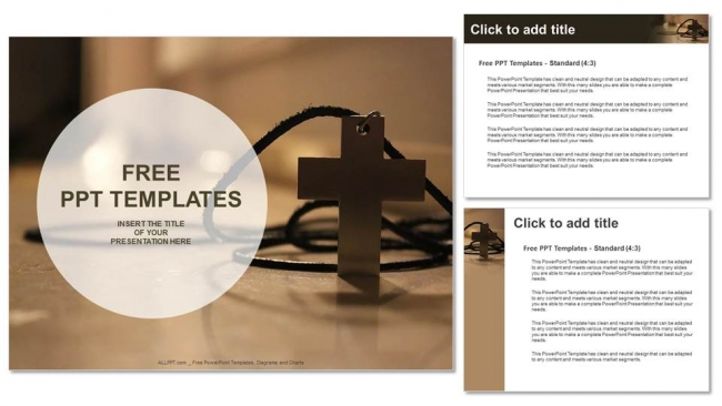Simple wooden christian cross necklace powerpoint templates simple wooden christian cross necklace powerpoint templates 4 toneelgroepblik Images