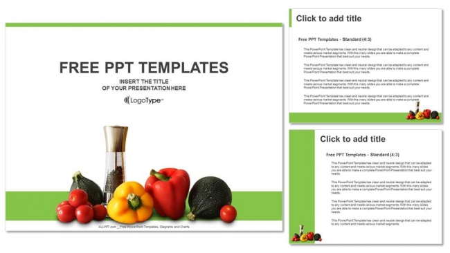 Fresh vegetables powerpoint templates fresh vegetables powerpoint templates 4 toneelgroepblik Choice Image