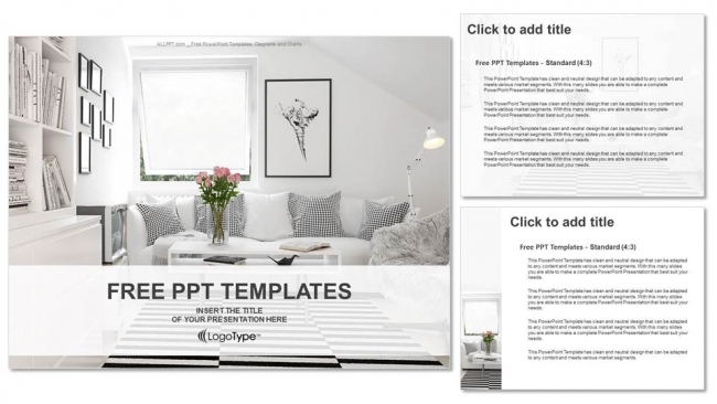 Interior design living room powerpoint templates for Room design layout templates