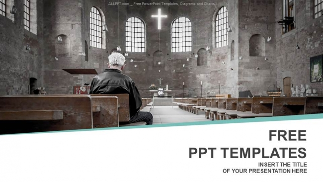 Man praying in church powerpoint templates toneelgroepblik Choice Image