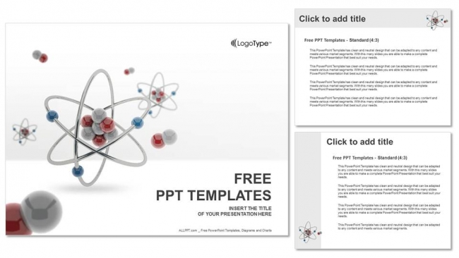 3d atom model powerpoint templates