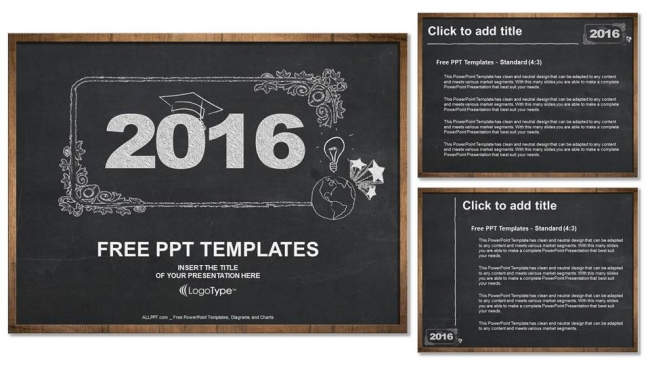 2016 concept on blackboard powerpoint templates 4
