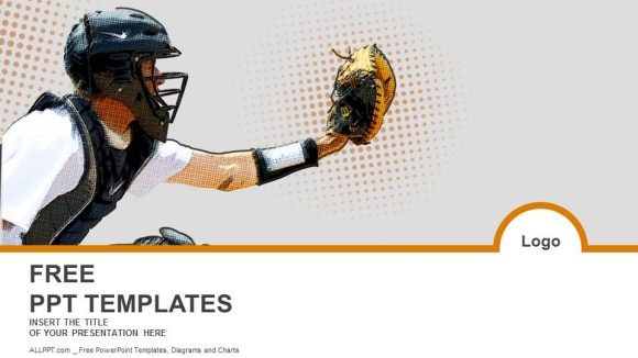 Baseball Catcher Powerpoint Templates