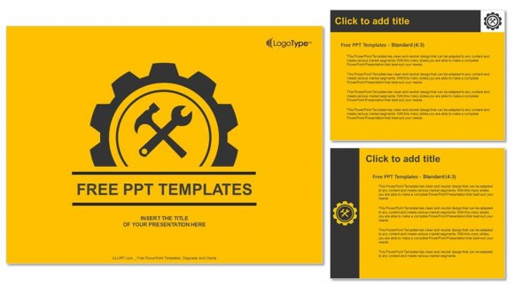 gear icon graphic powerpoint templates