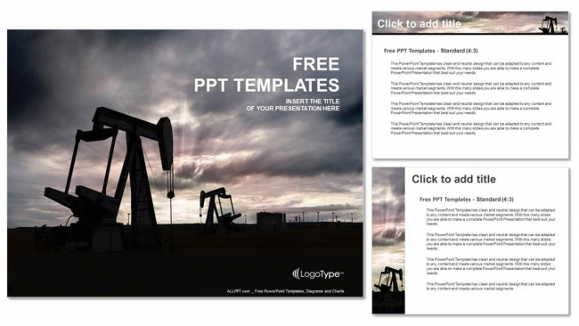 Oil pump jack powerpoint templates oil pump jack powerpoint templates 4 toneelgroepblik Gallery
