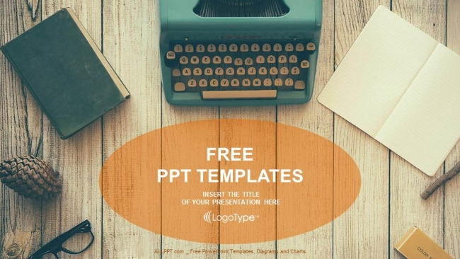Vintage typewriter on wooden table powerpoint templates vintage typewriter on wooden table powerpoint templates 1 toneelgroepblik Image collections