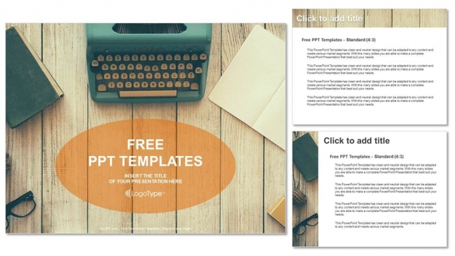 Vintage typewriter on wooden table powerpoint templates vintage typewriter on wooden table powerpoint templates 4 toneelgroepblik Image collections