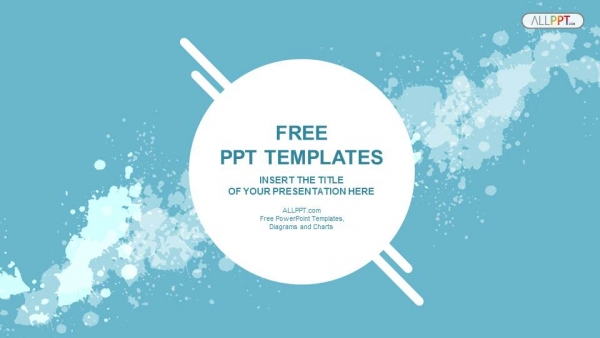 abstract splashes powerpoint templates 1