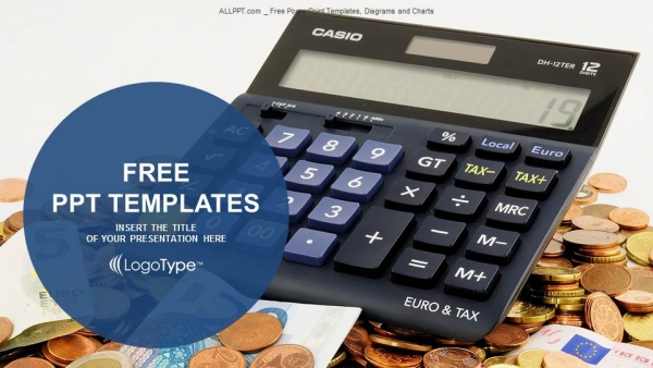 Calculator and euro banknotes powerpoint templates calculator and euro banknotes powerpoint templates 1 toneelgroepblik Image collections