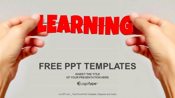 Free education powerpoint templates design hand and word learning powerpoint templates toneelgroepblik Images