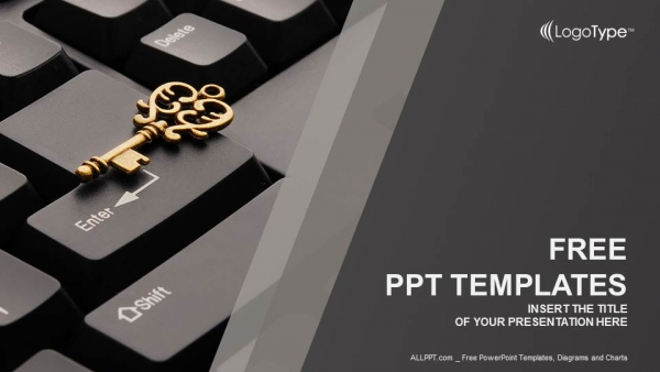 Key on computer keyboard powerpoint templates toneelgroepblik