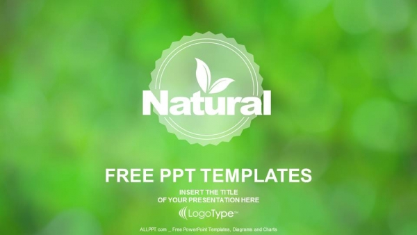 natural product logo design powerpoint templates 1