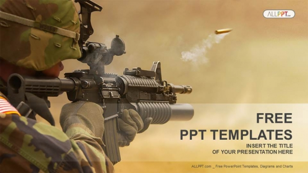 Submachine gun military powerpoint templates submachine gun military powerpoint templates 1 toneelgroepblik